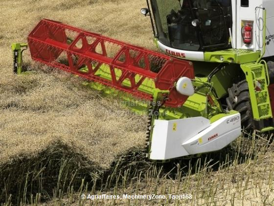 Header Extension for Rapeseed Harvesting